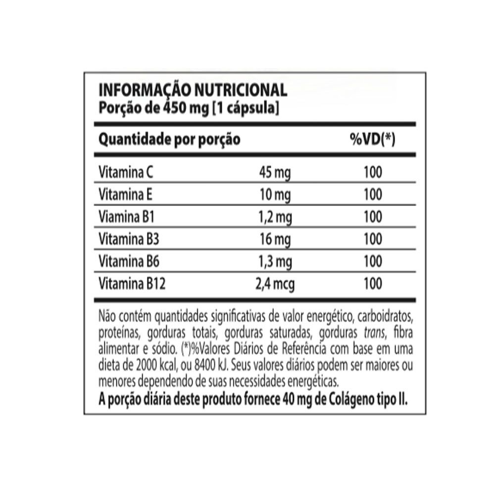 Collagen Tipo II 60caps Nutrify  - KFit Nutrition