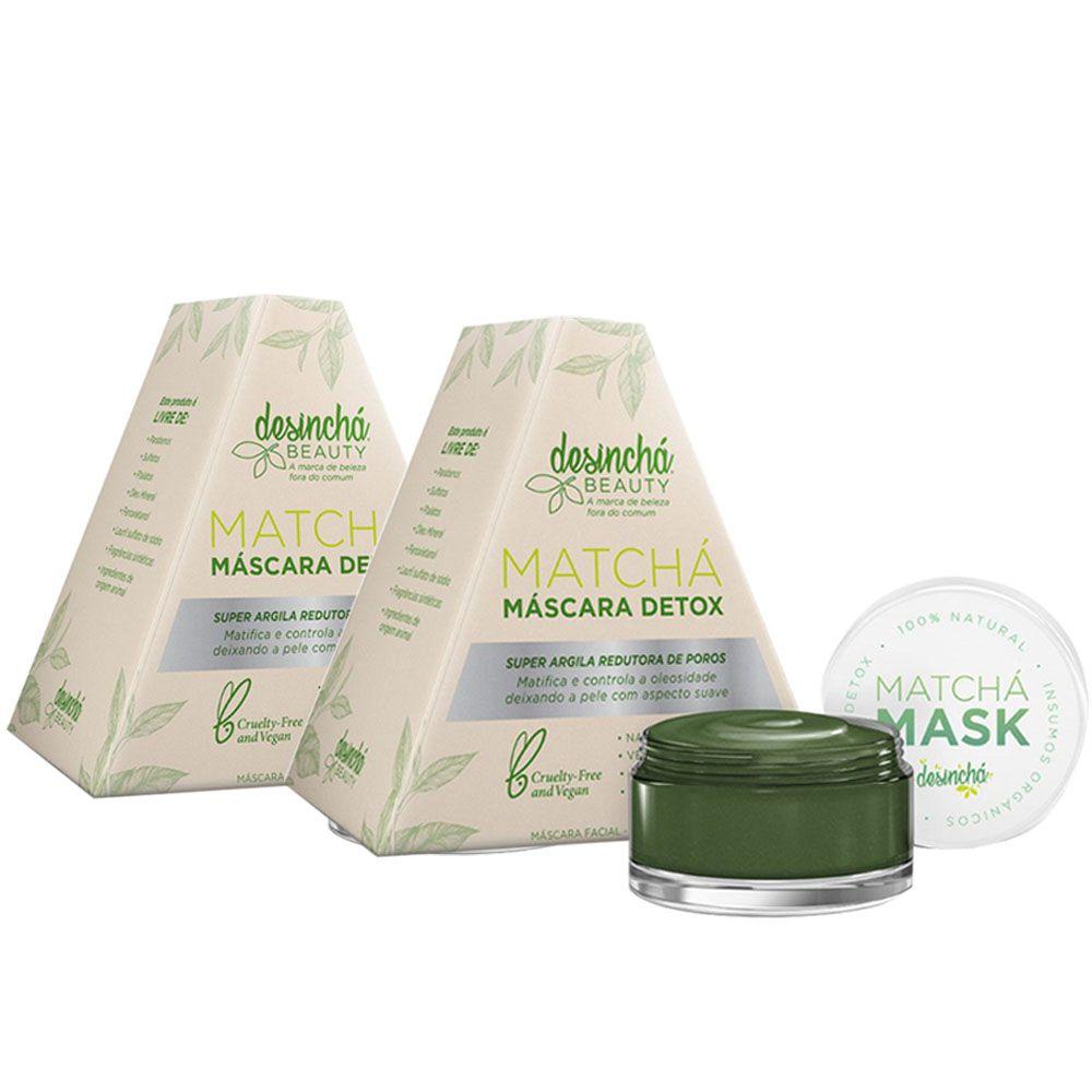 Matchá Máscara Detox 60g 2 Un - Desinchá  - KFit Nutrition