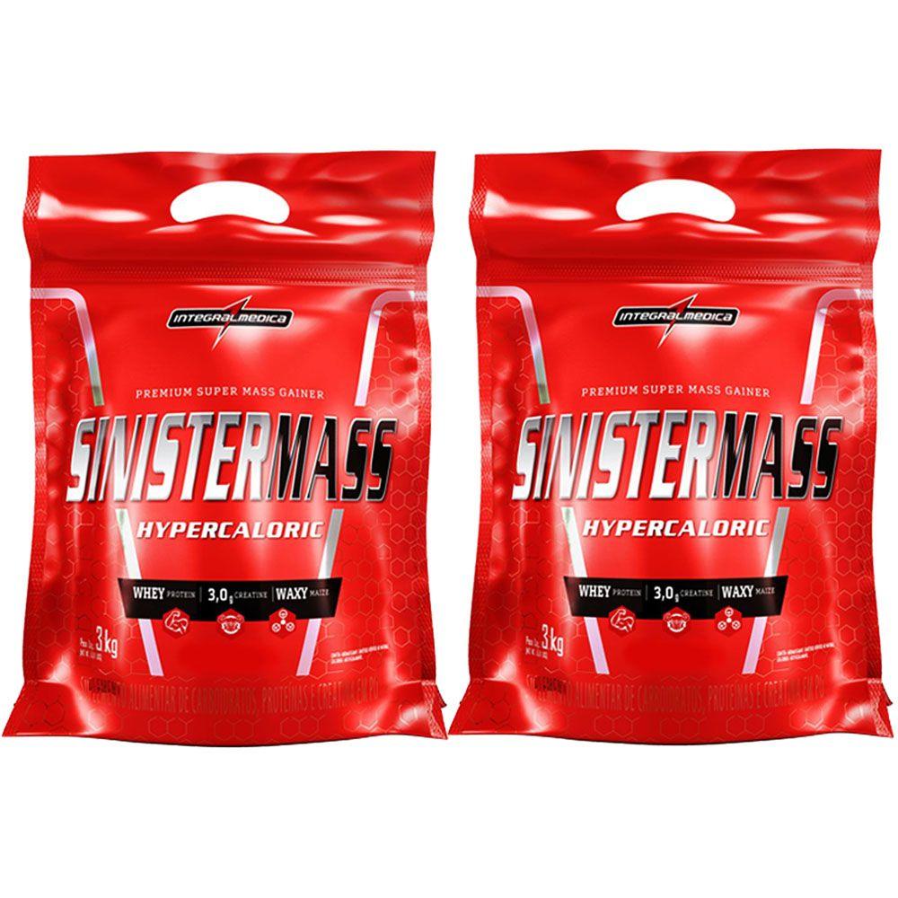 Combo 2 Un Sinister Mass 3kg Morango - Integral Medica  - KFit Nutrition