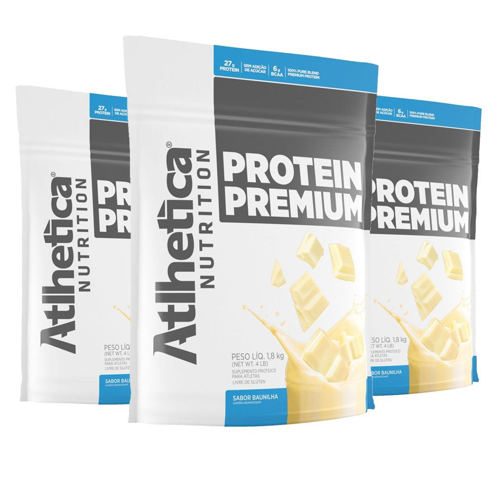 Protein Premium - Baunilha - 1,8Kg 3 Un Atlhetica  - KFit Nutrition