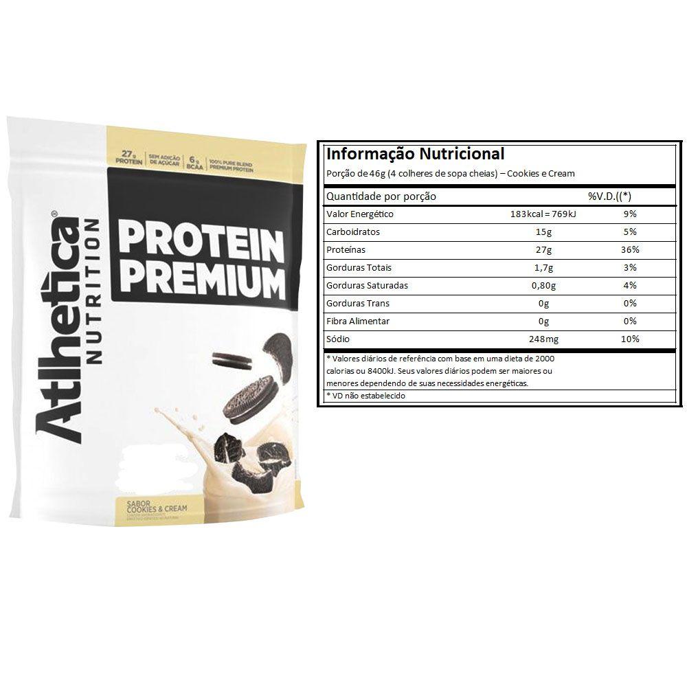 Protein Premium Cookies 1,8Kg 3 Un  Atlhetica  - KFit Nutrition