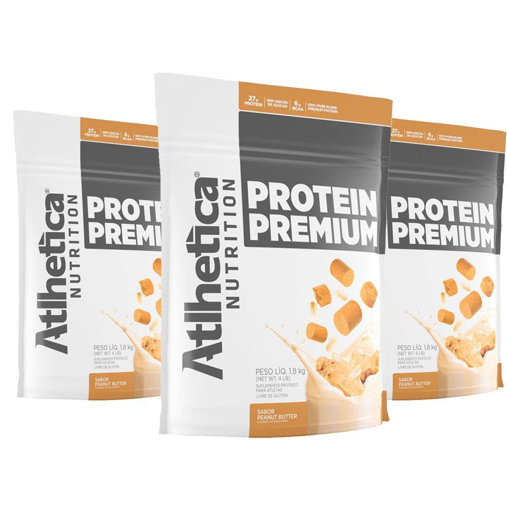 Protein Premium Peanut Butter 1,8Kg 3 Un Atlhetica  - KFit Nutrition