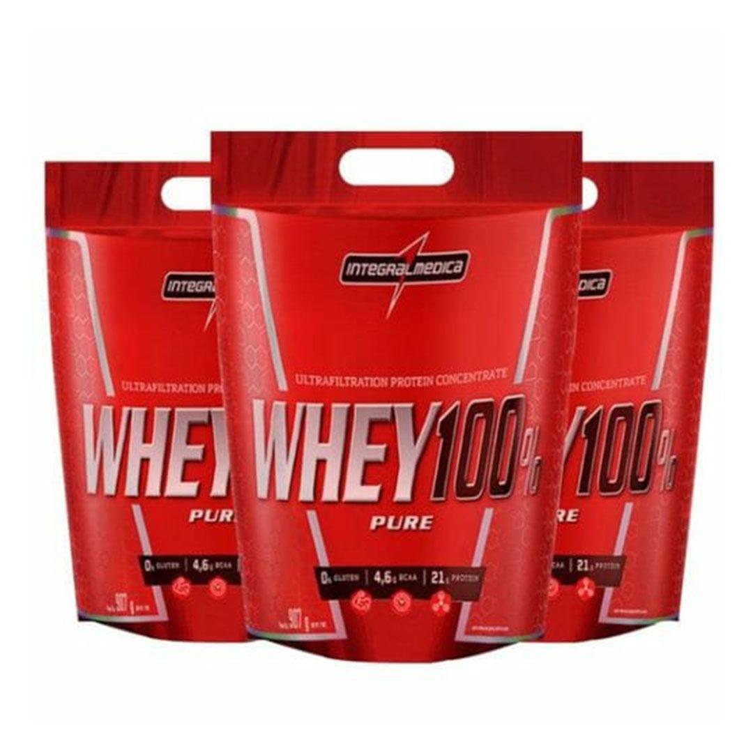 Combo 3 Un Super Whey 100% 900g Cappuccino Integral Medica  - KFit Nutrition