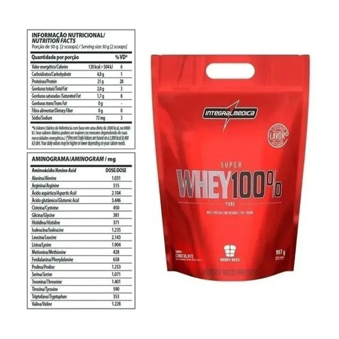 Combo 3 un Super Whey 100% Cookies 900g Integral Medica  - KFit Nutrition