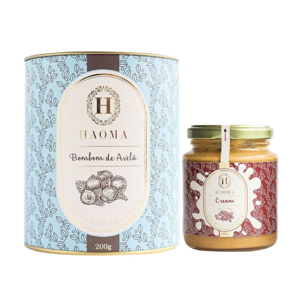 Bombom de Chocolate Belga Avelã + Haoma Cream Amendoim  - KFit Nutrition