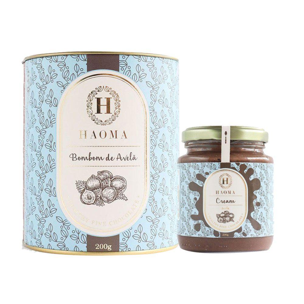 Haoma Cream Avelã + Bombom de Chocolate Belga Avelã  - KFit Nutrition