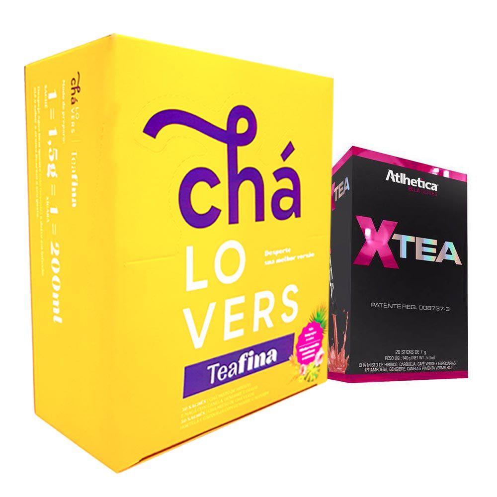 TeaFina 60 Sachês + X-Tea 20 Sticks Atlhetica  - KFit Nutrition