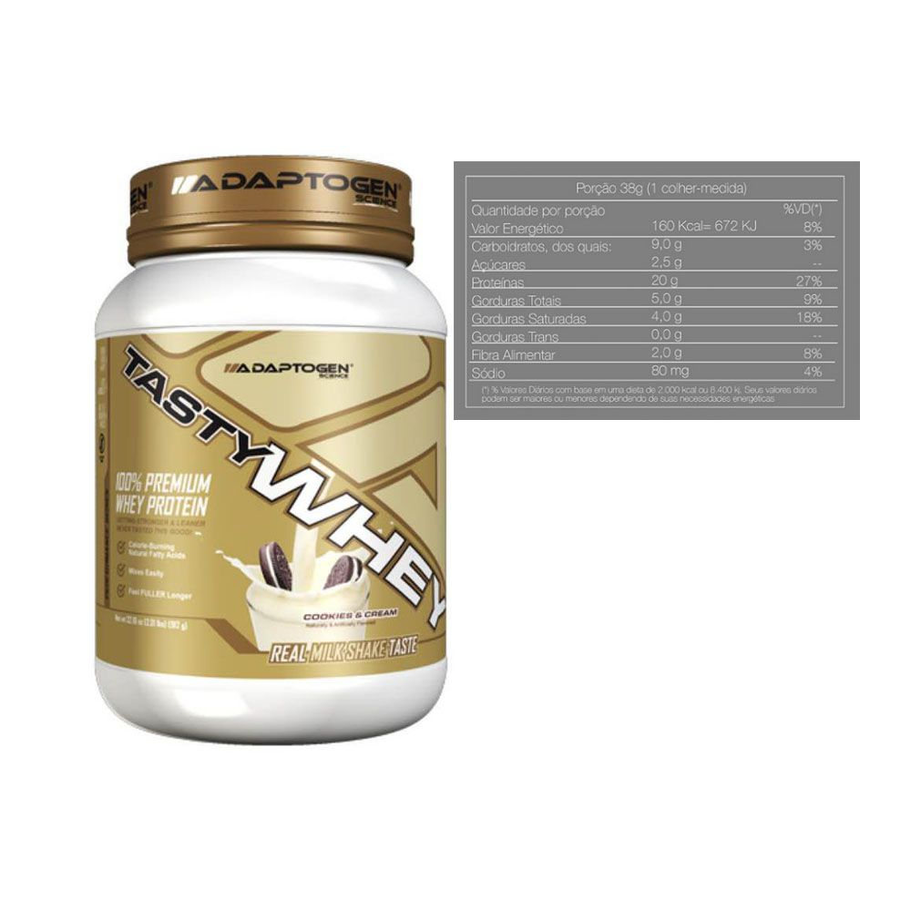 Tasty Whey 2 LB Cookies + Creatina 150g + Bottle 500ml  - KFit Nutrition
