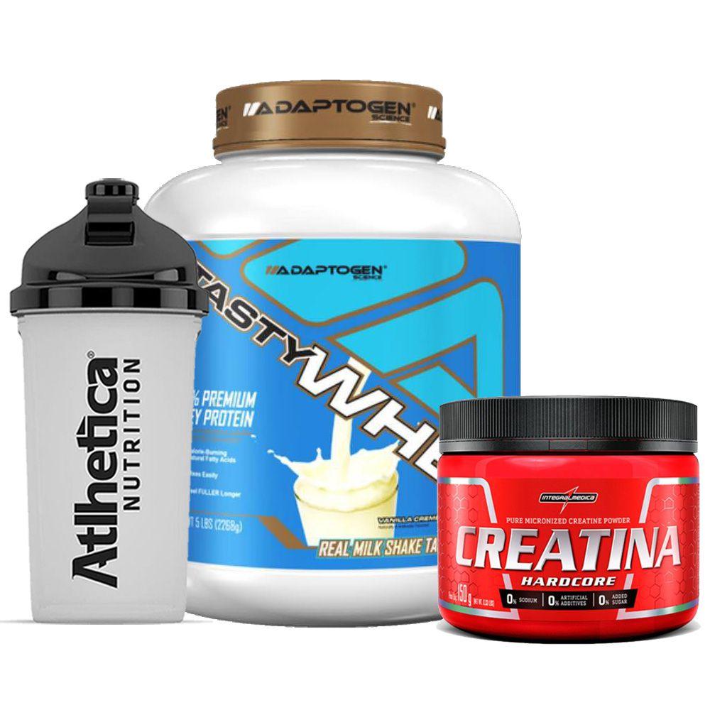Tasty Whey 5 LB Vanilla + Creatina 150g + Bottle  - KFit Nutrition