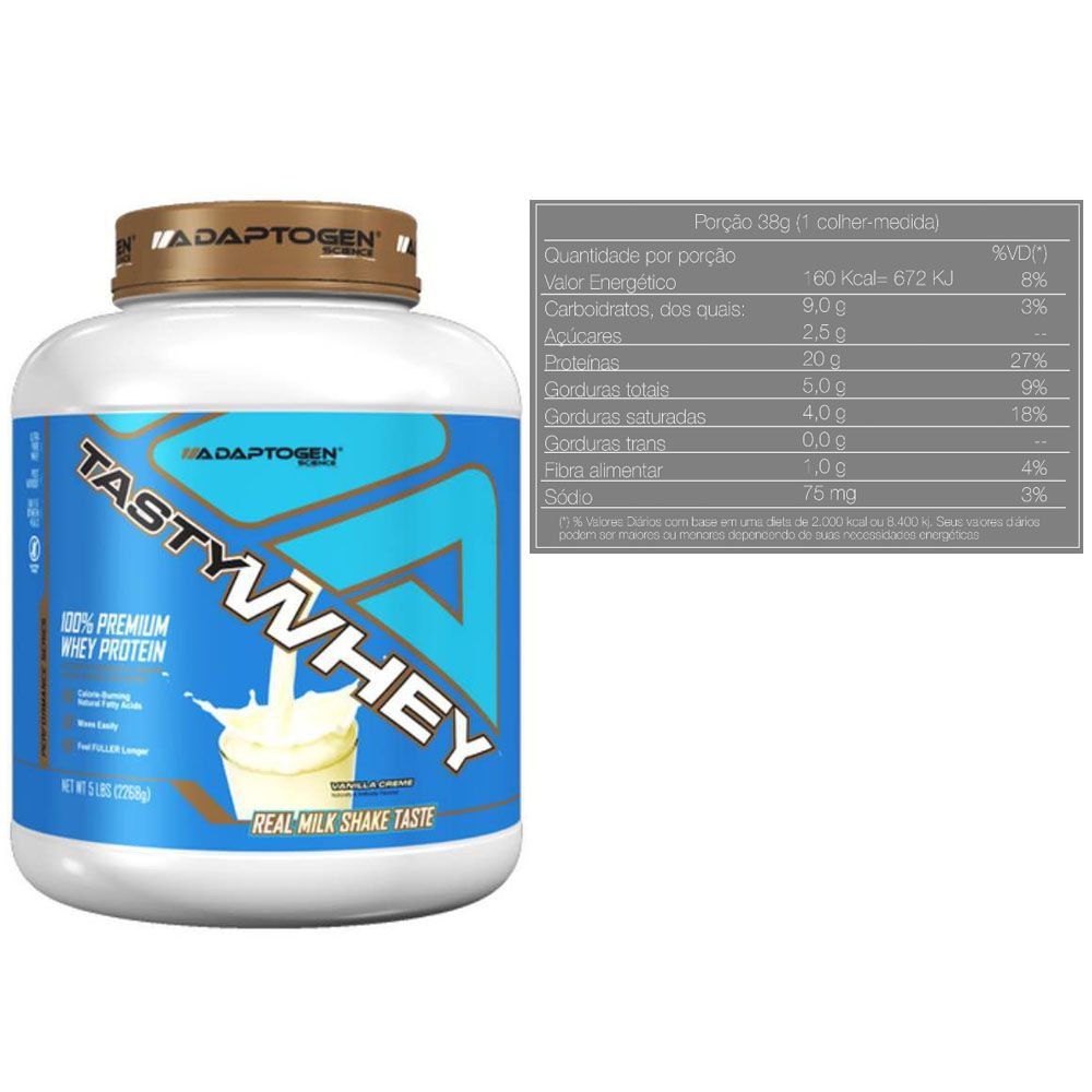 Tasty Whey 5 LB Vanilla +  Creatina 300g Op + Bottle  - KFit Nutrition