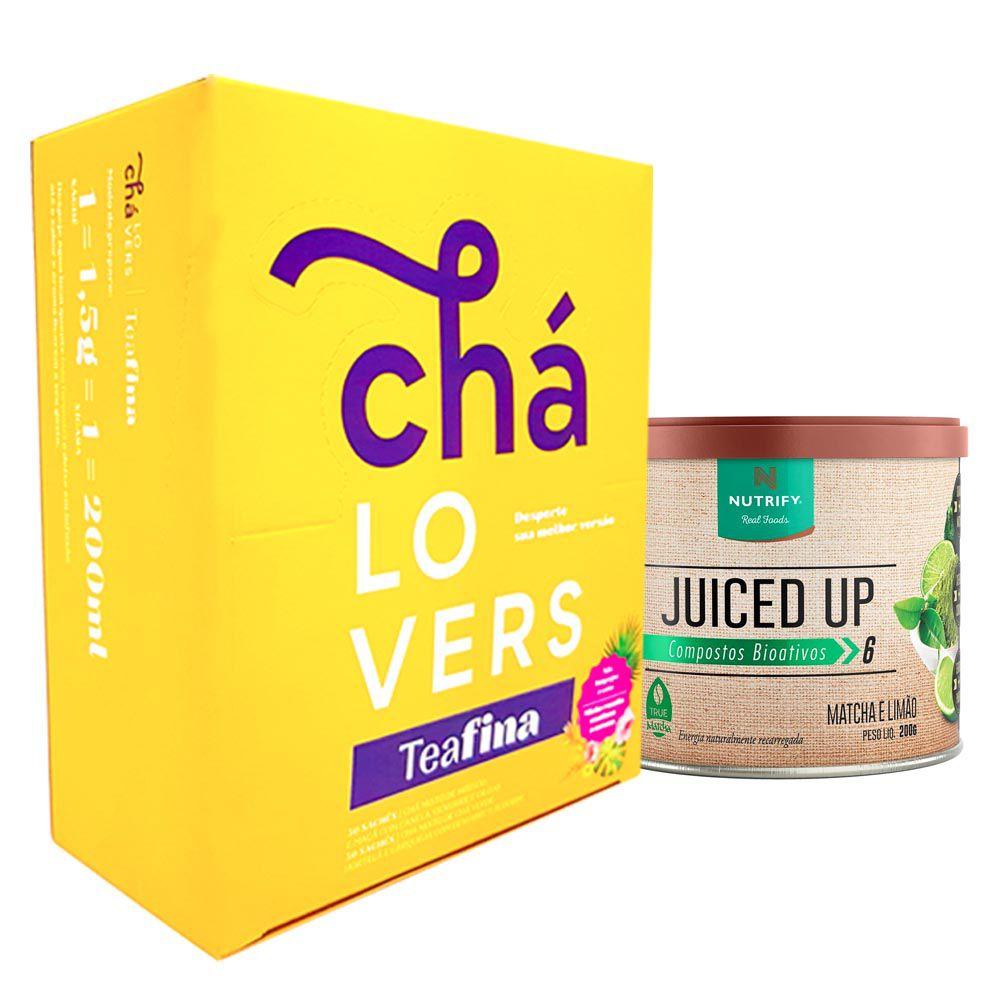 TeaFina  60 Sachês + Juiced Up Matcha Limão 200g  - KFit Nutrition