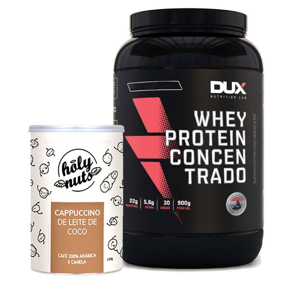 Whey Concentrado 900g Coco + Cappuccino 120g  - KFit Nutrition
