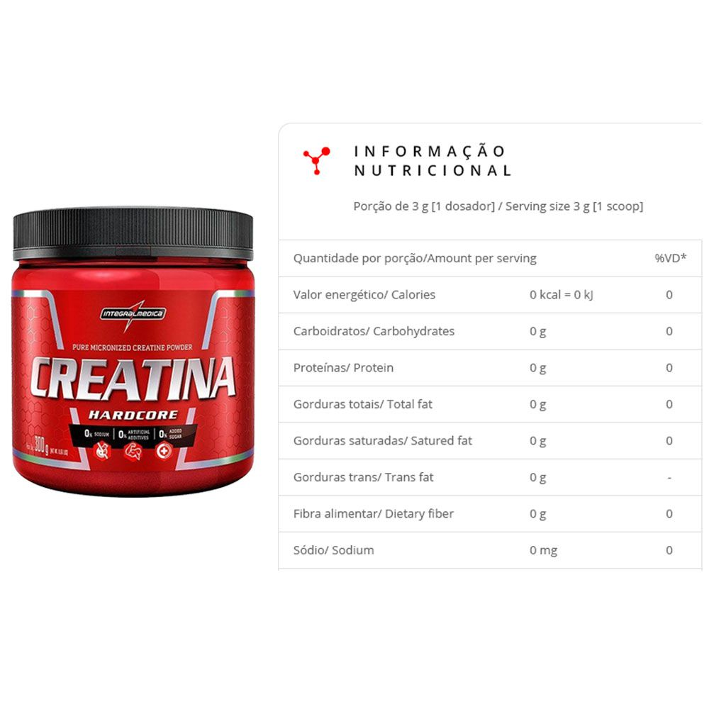 Whey WPC Banana 900g Dux + Creatina 300g Integral  - KFit Nutrition