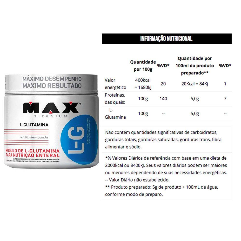 Whey WPC Cookies 900g Dux + Glutamina 300g Max Titanium  - KFit Nutrition