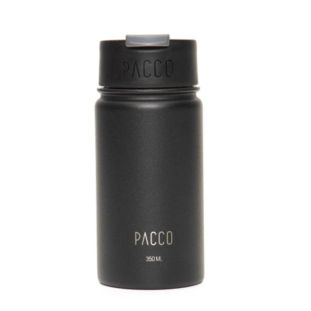 Copo Termico Preto Tumbler C/ Infusor 350ml - Pacco  - KFit Nutrition