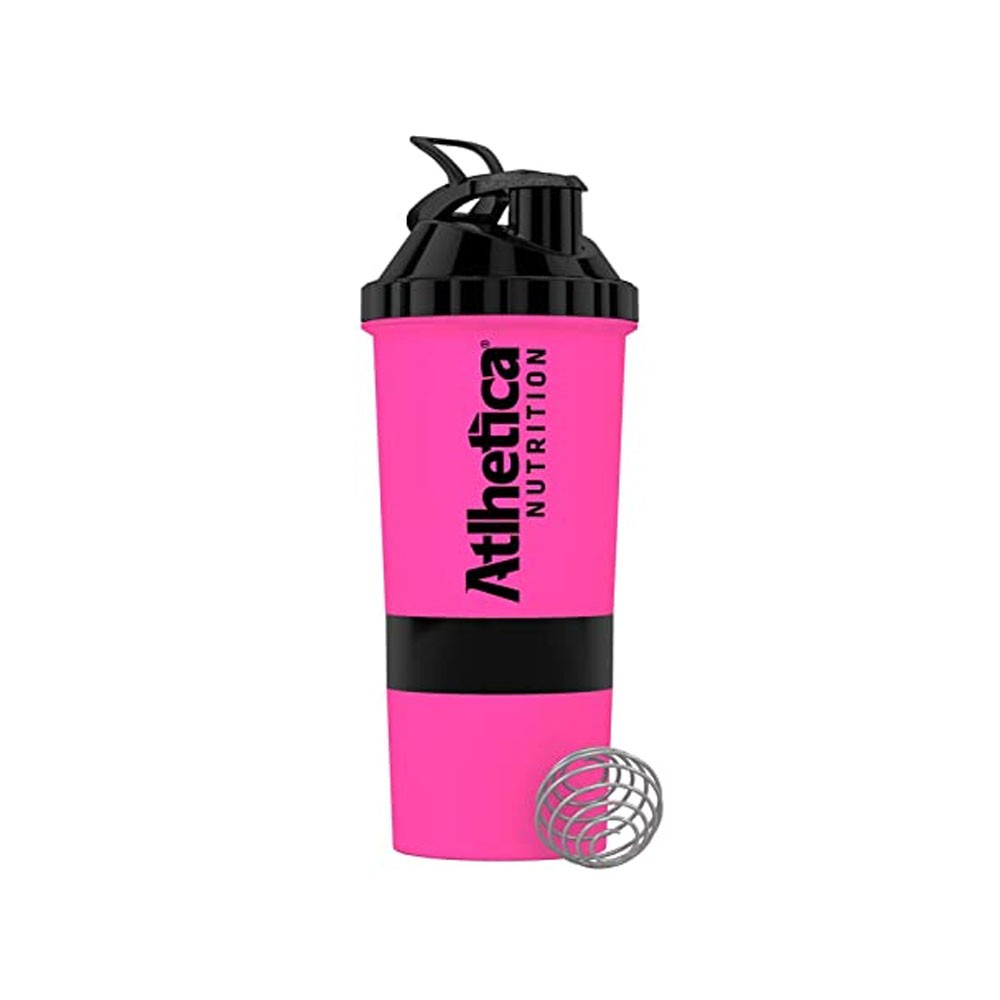 Coqueteleira 3 Dose 600ML Pink - Atlhetica  - KFit Nutrition