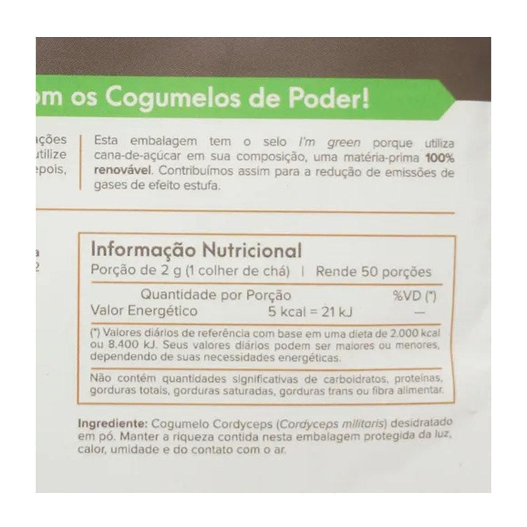 Cordyceps Cogumelo Desidratado em Pó 100g  Viva Regenera  - KFit Nutrition