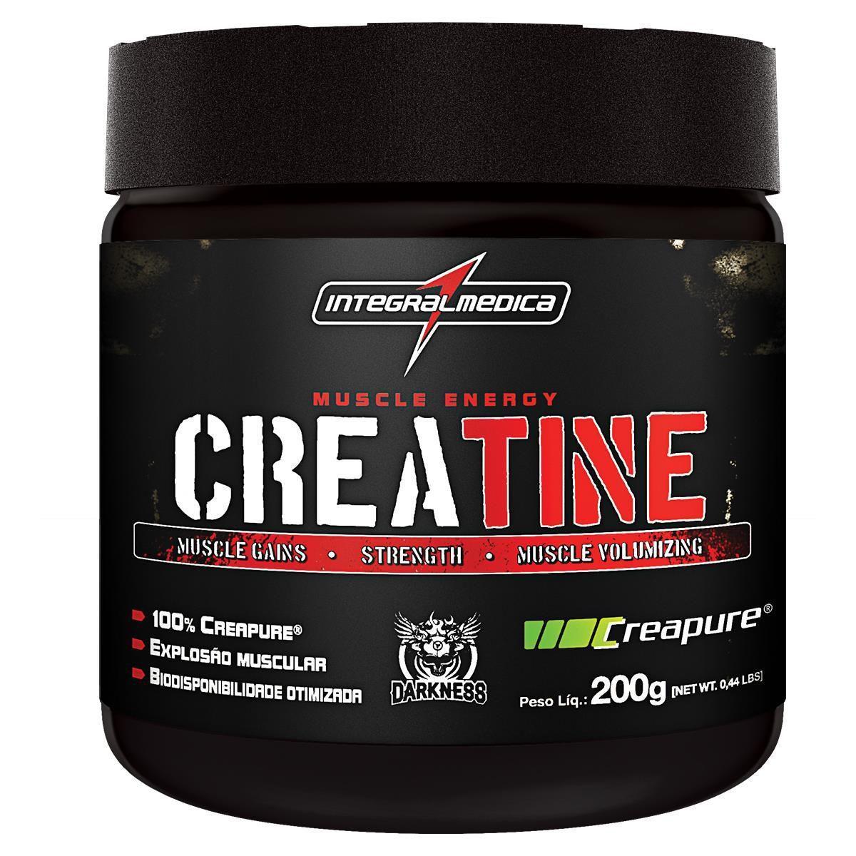 Creatine Creapure 200g Darkness - Integral Medica  - KFit Nutrition