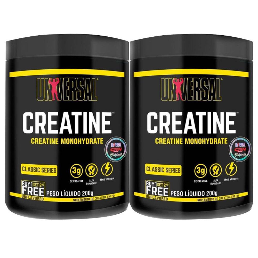 Creatina Powder 200g 2 un  Universal  - KFit Nutrition