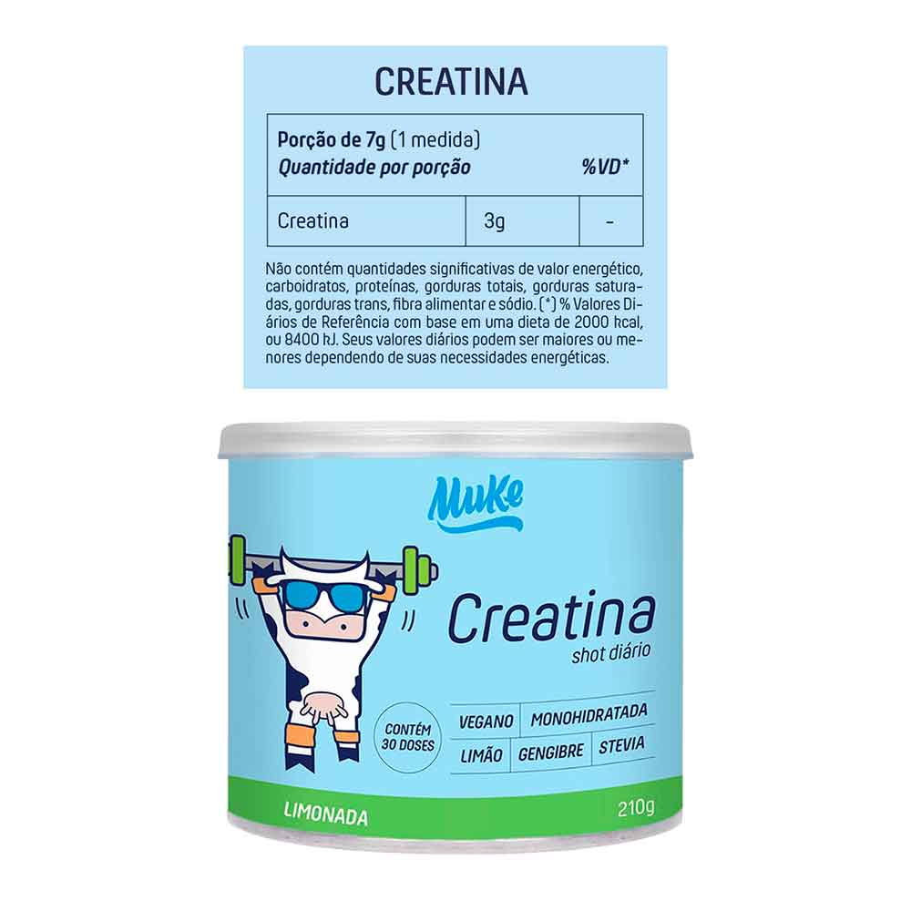 Creatina Vegana Mais Mu 210g Limonada  - KFit Nutrition