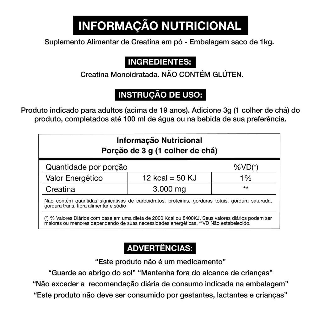 Creatina Platinum Series 100% Pure 1kg Pouch - Adaptogen  - KFit Nutrition