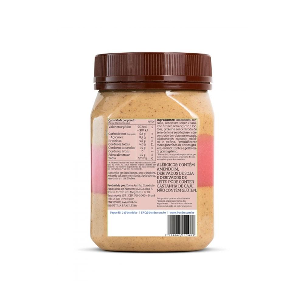 Creme de Amendoim Choc Bran c/ Calda de Morango 350g - Bendú  - KFit Nutrition