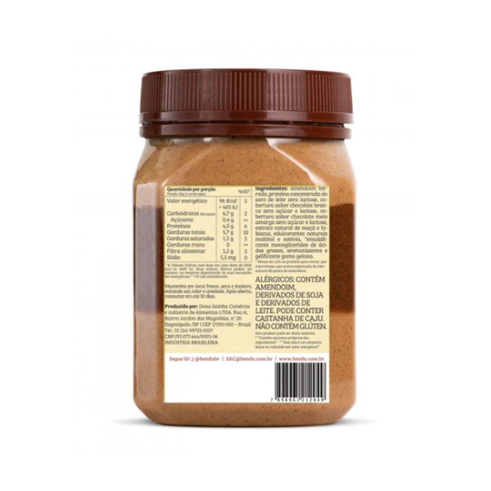 Creme de Amendoim Doce de Leite c/ Calda Toffe 350g - Bendú  - KFit Nutrition