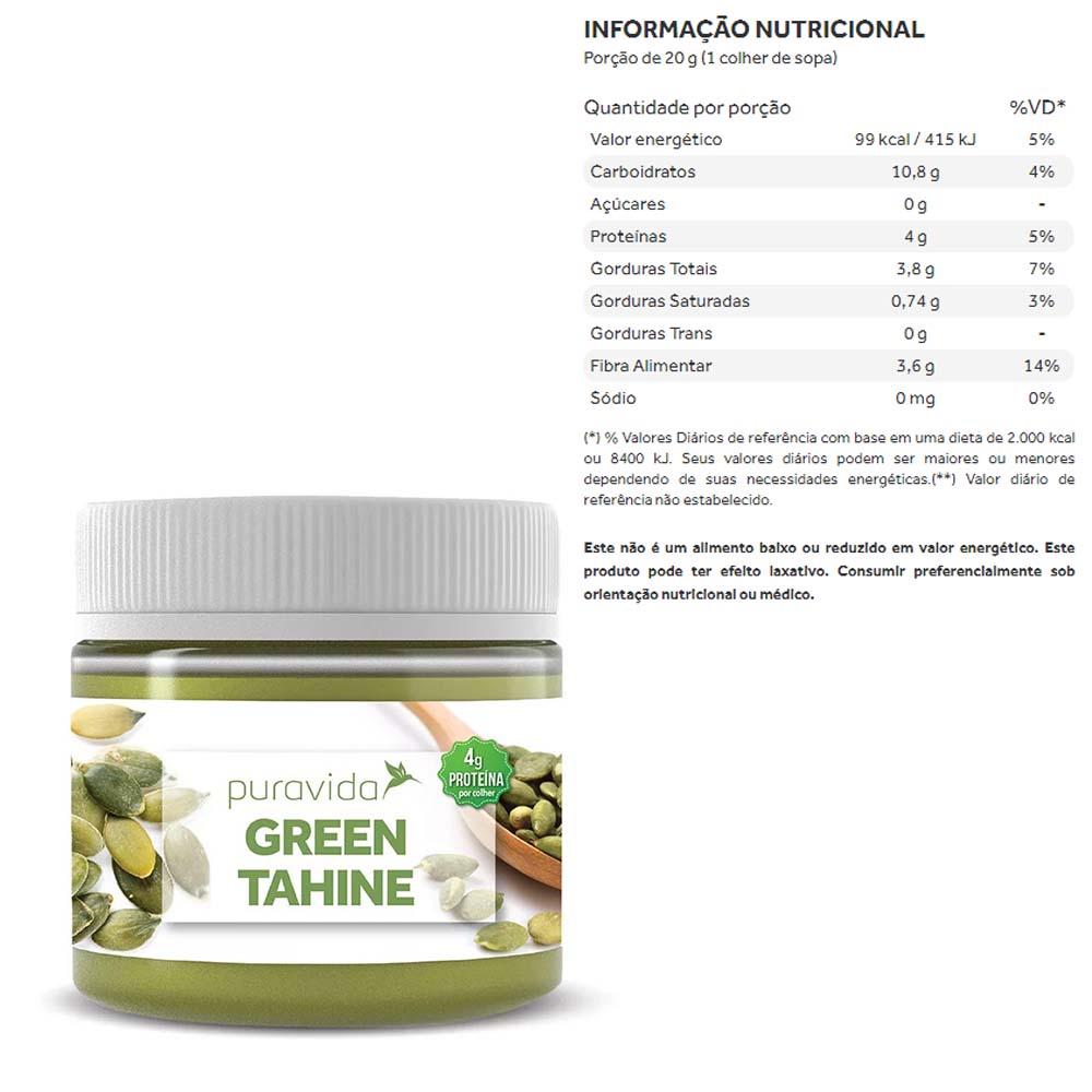 Creme de Green Tahine 300g - Puravida  - KFit Nutrition