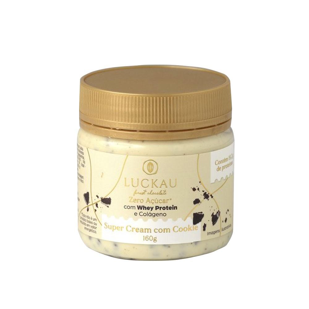 Creme Super Cream com Cookies 160g - Luckau  - KFit Nutrition