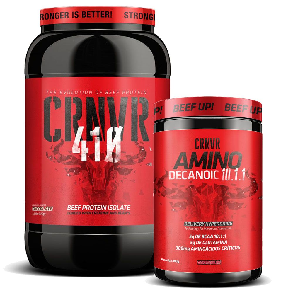CRNVR 410 Chocolate + Amino Decanoid 300g 10:1:1 Watermelon  - KFit Nutrition