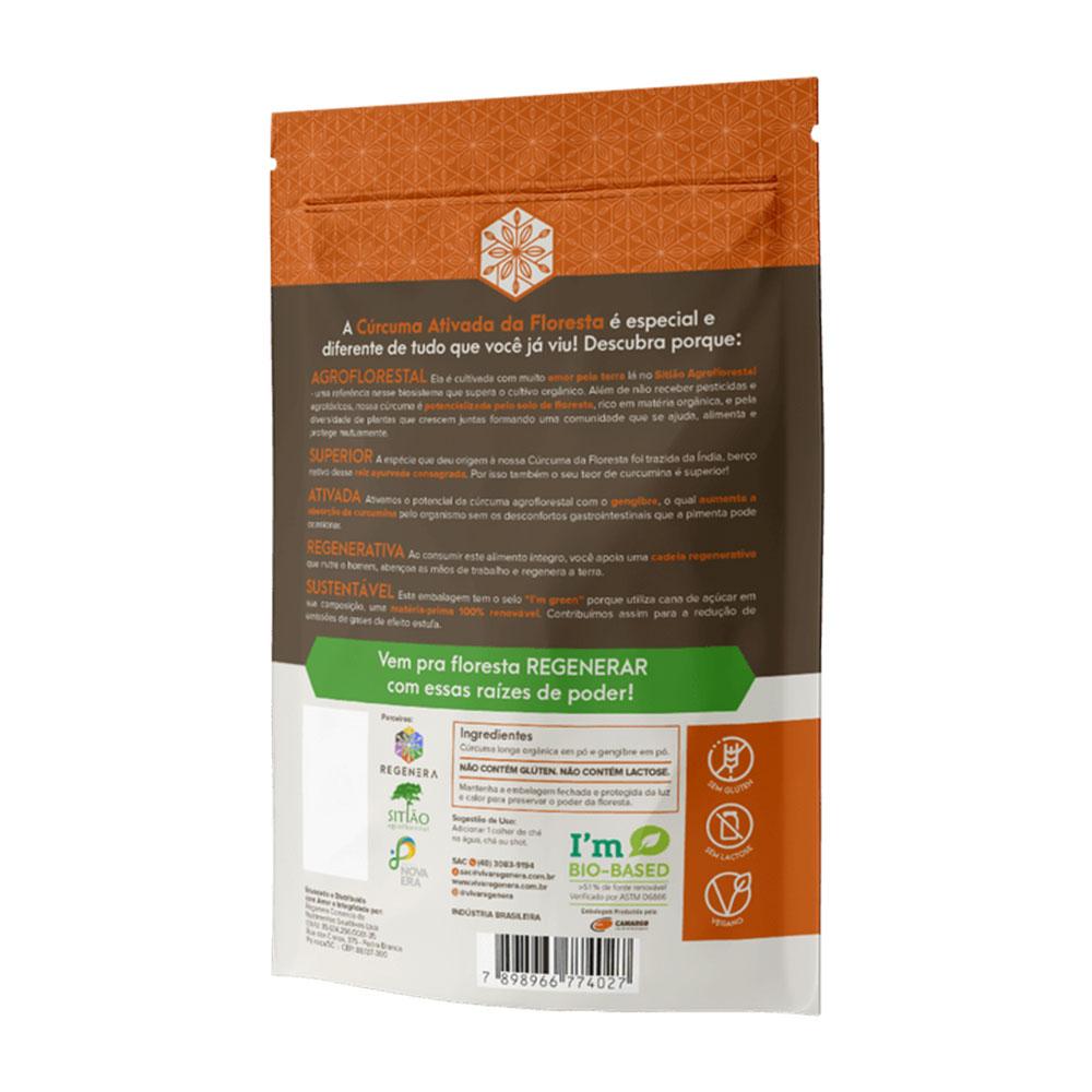 Cúrcuma Ativada da Floresta Raízes de Poder 60g  Viva Regenera  - KFit Nutrition