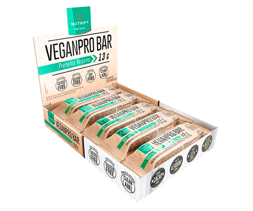 Cx 10 Un Veganpro Bar Cacau Nibs - Nutrify  - KFit Nutrition