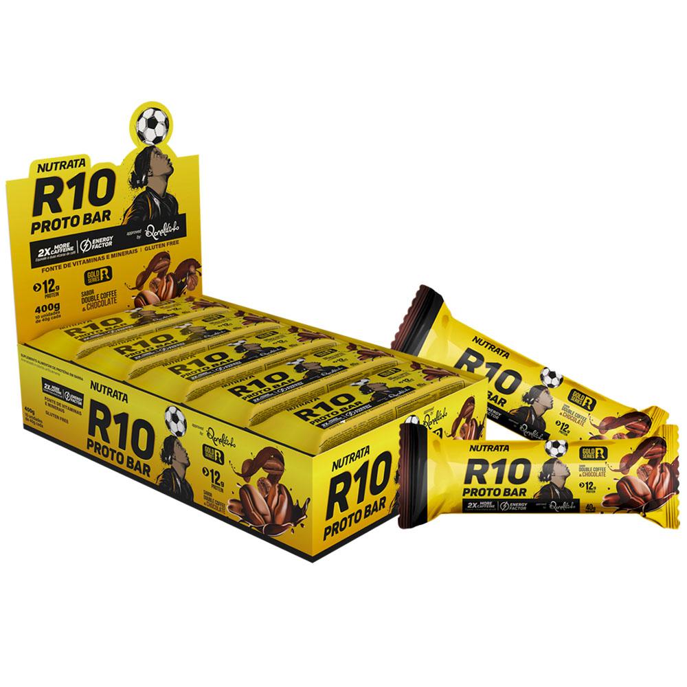 Cx 10un R10 Proto Bar 400g Sabor Double Coffe e Chocolate - Nutrata  - KFit Nutrition