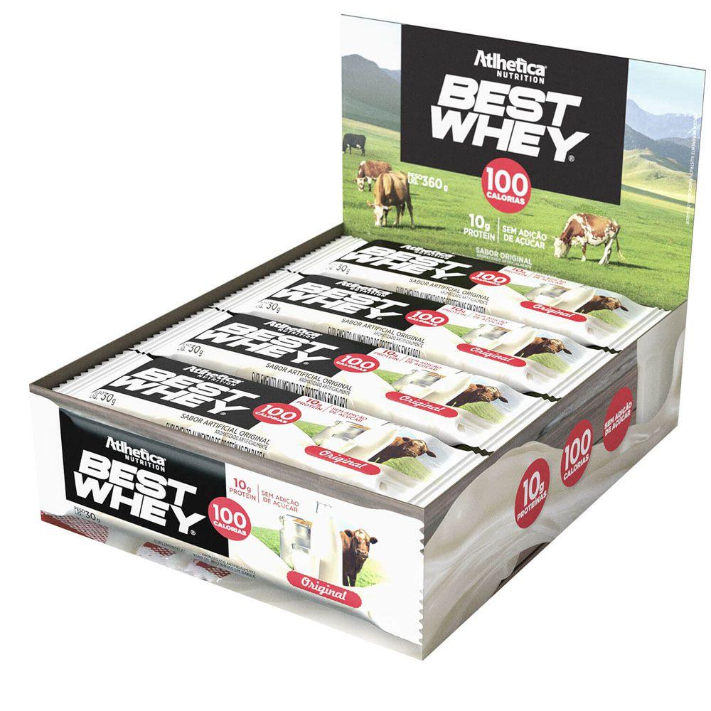Cx 12 Un Best Whey Bar 30g Original Atlhetica Nutrition  - KFit Nutrition