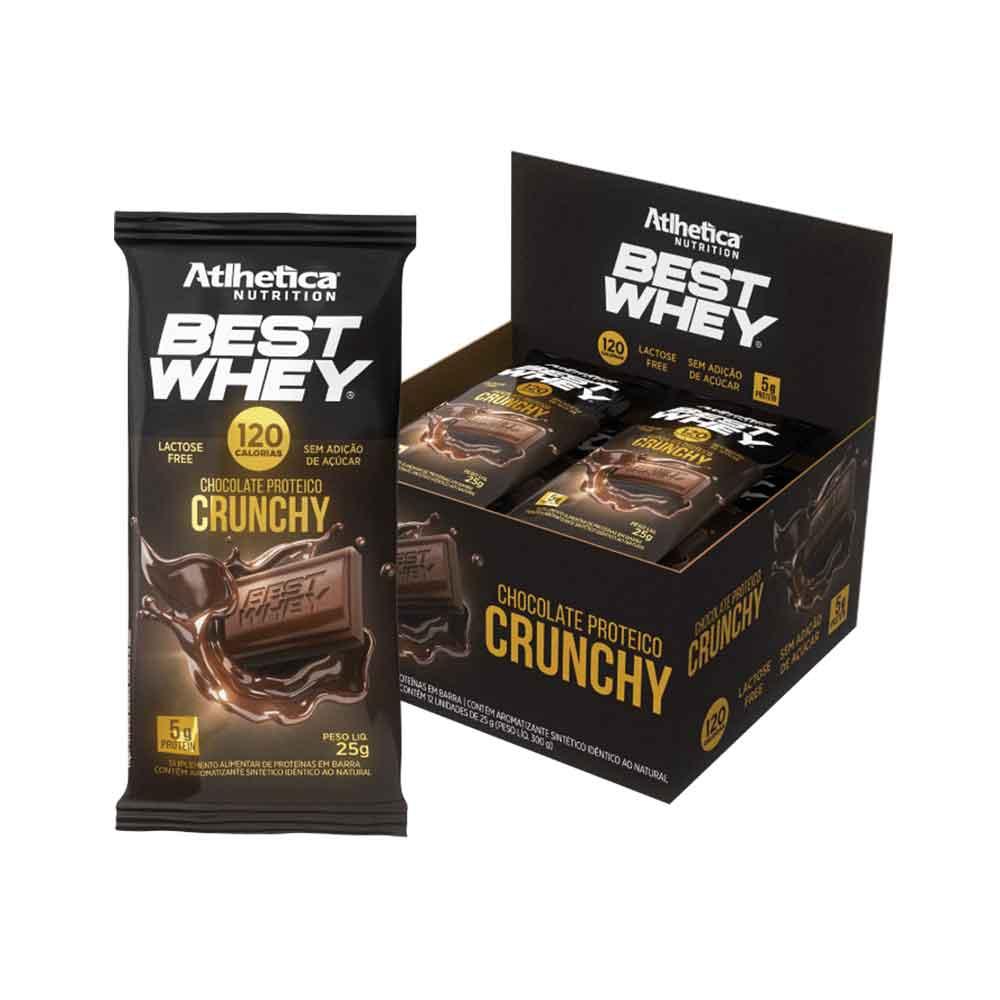Cx 12 Un Best Whey Chocolate Proteico Crunchy - Atlhetica Nutrition  - KFit Nutrition