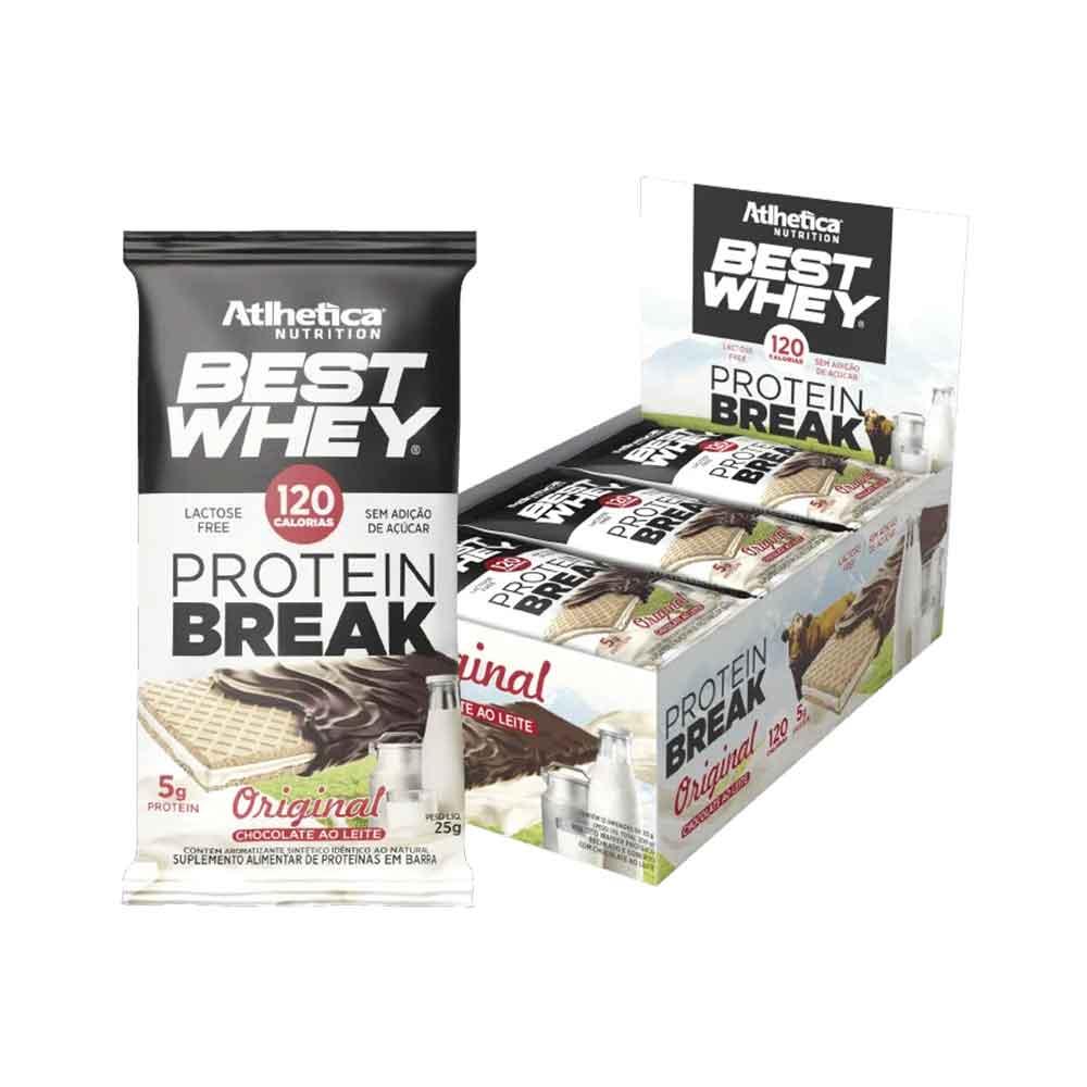 Cx 12 Un Protein Break 25g Original Chocolate Ao Leite - Atlhetica  - KFit Nutrition