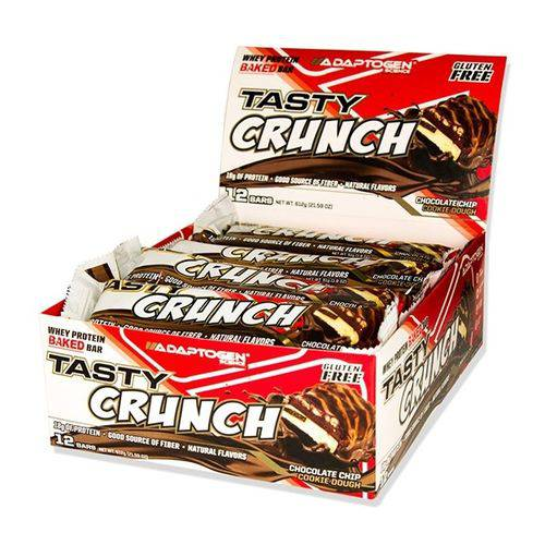 Tasty Bar Crunch 51G Chocolate Chip Adaptogen - Cx 12 Un  - KFit Nutrition