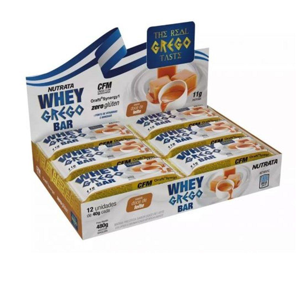 Cx 12 Un Whey Grego Doce de Leite  - Nutrata  - KFit Nutrition
