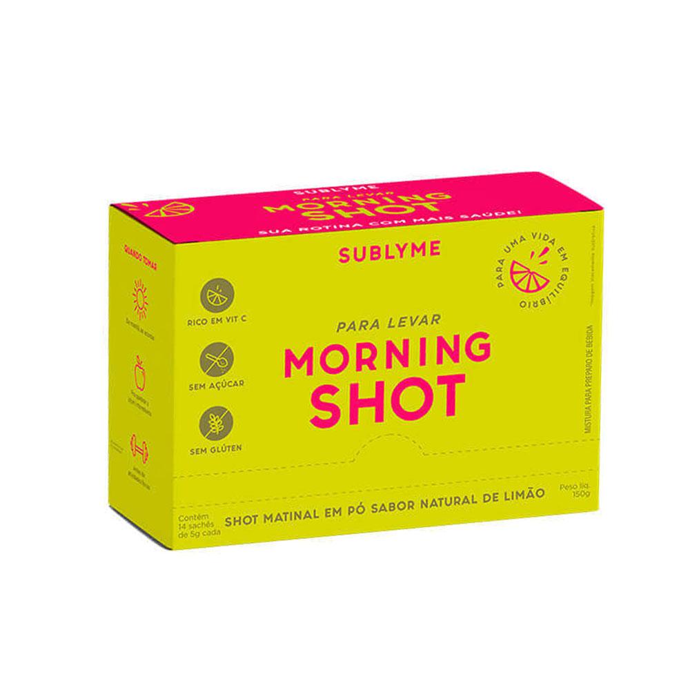 Cx 14un Morning Shot Sabor Limão 5g Sachê - Sublyme  - KFit Nutrition