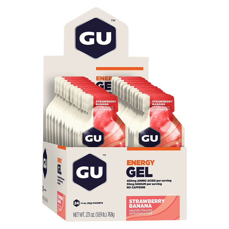 Cx 24 Un Energy Gel 32G Morango e Banana GU  - KFit Nutrition