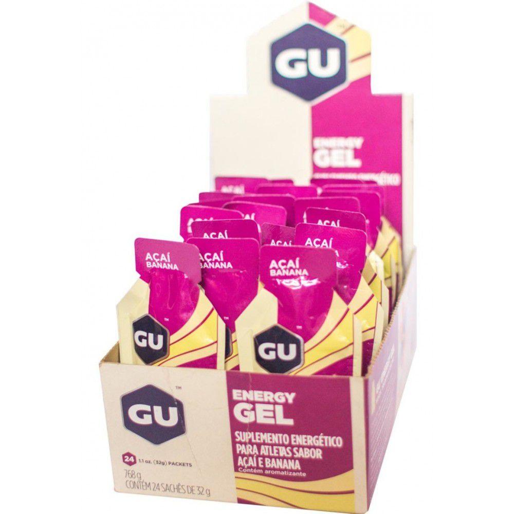 Caixa 24un Energy Gel 32gAçai e Banana - GU  - KFit Nutrition
