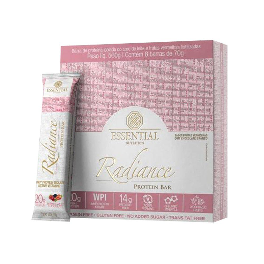 Radiance Protein Bar Berries + White chocolate Cx 8 Un  - KFit Nutrition