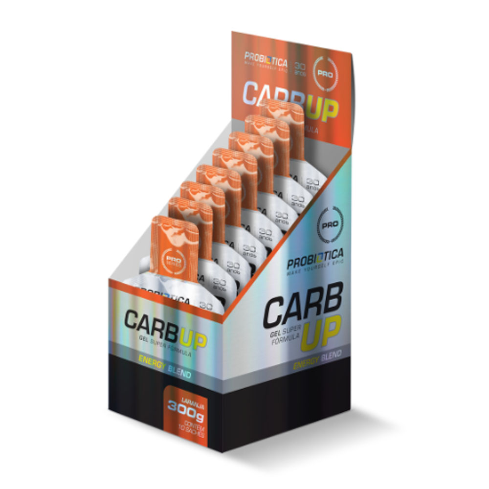 CX Carb UP Gel Laranja Super Formula Probiótica  - KFit Nutrition