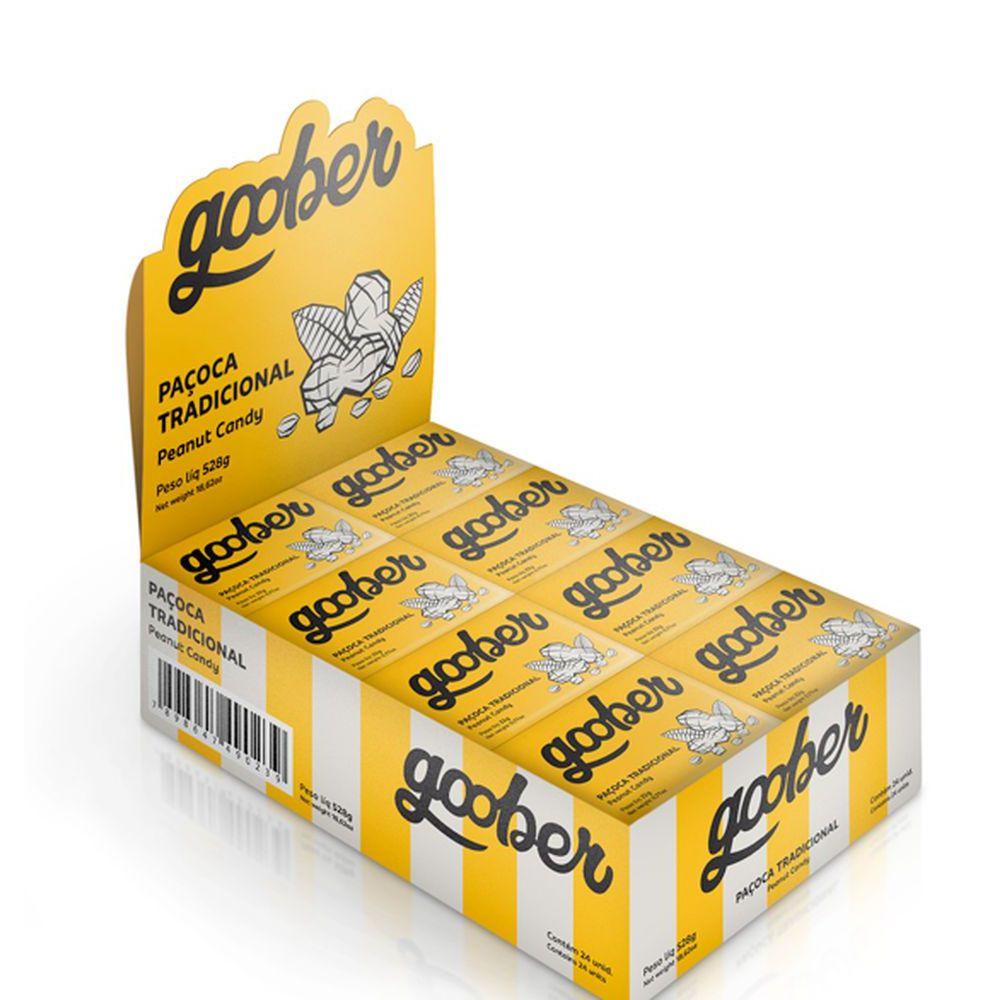 Paçoca Tradicional 22g Goober - Goober Cx 24 Un  - KFit Nutrition