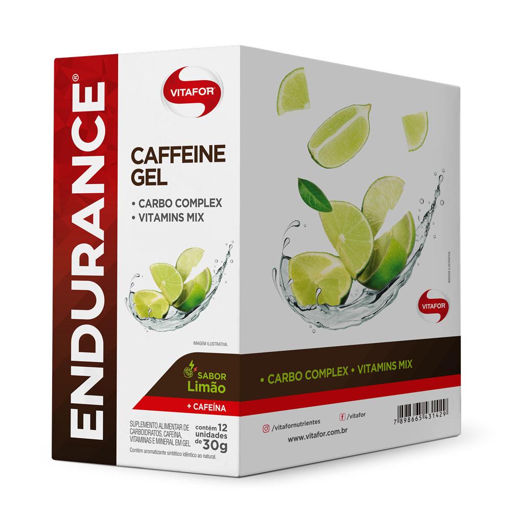 Cx Endurance Energy Gel 30g Limão Cafeína - Vitafor  - KFit Nutrition