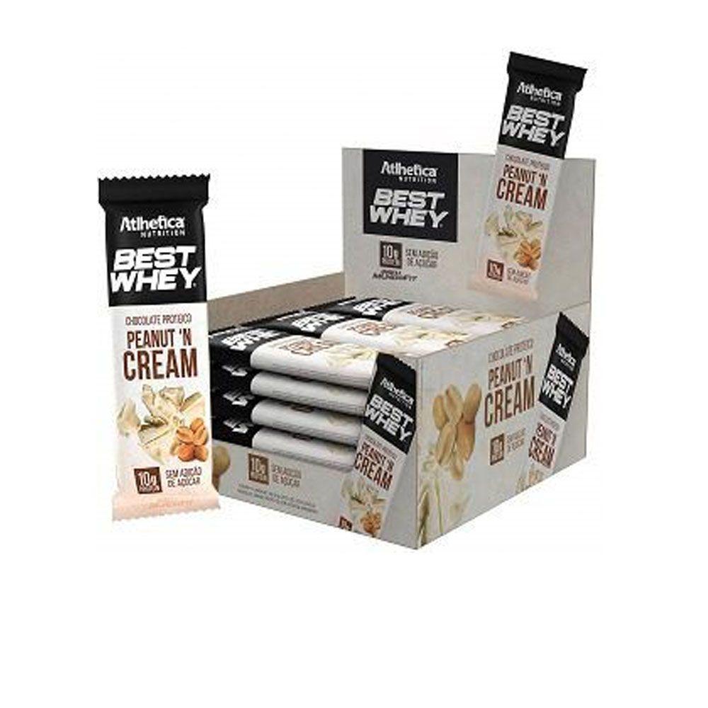 CxBest Whey Peanut N Cream Chocolate Proteico Branco 12 Un  - KFit Nutrition