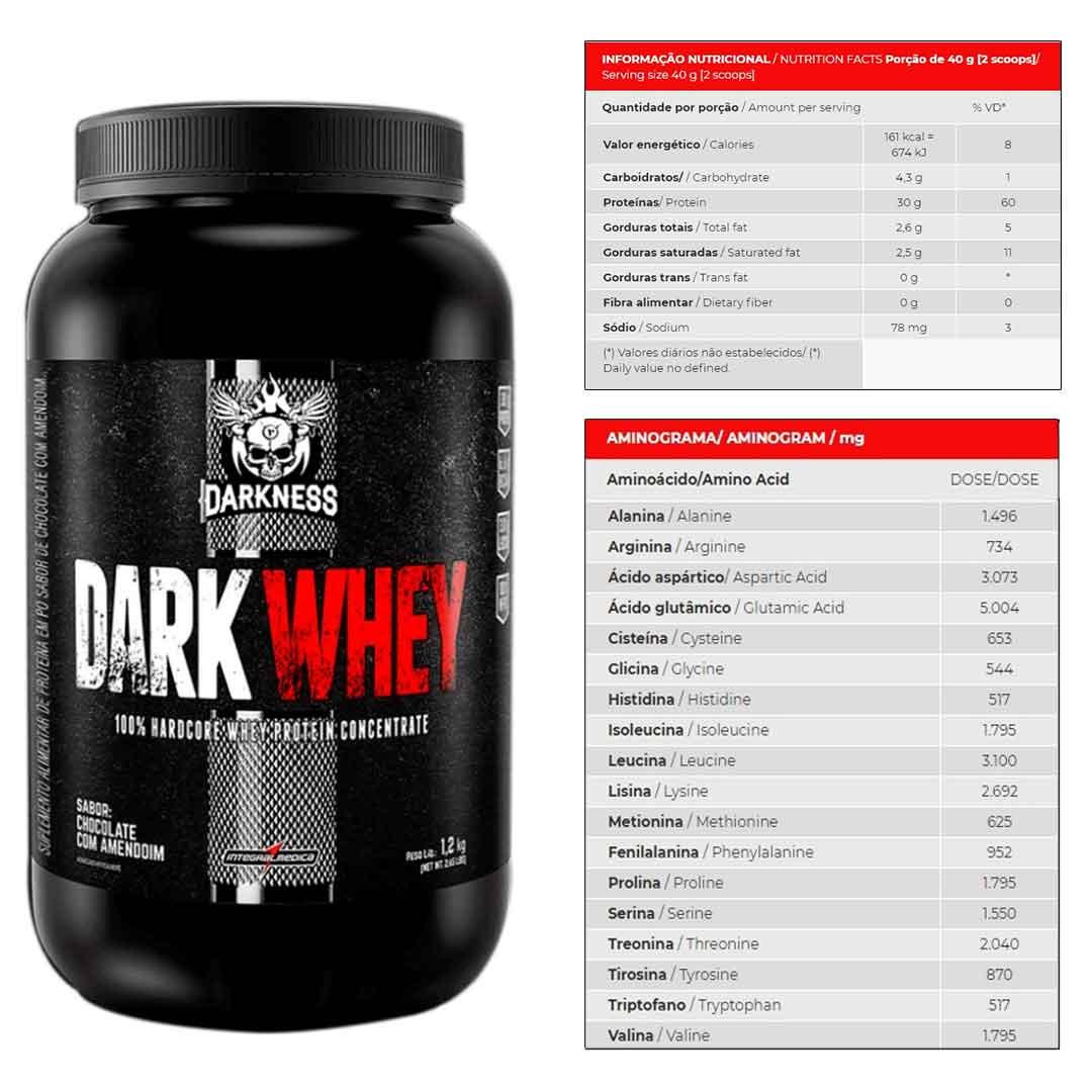 Dark Whey 1,20kg Chocolate C Amendoim + Supercoffee 2.0 220g  - KFit Nutrition
