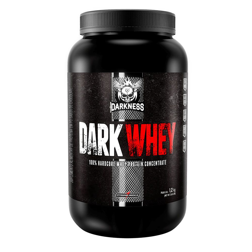 Dark Whey Protein 100% Concentrado 1,20kg Chocolate Com Amendoim  - KFit Nutrition