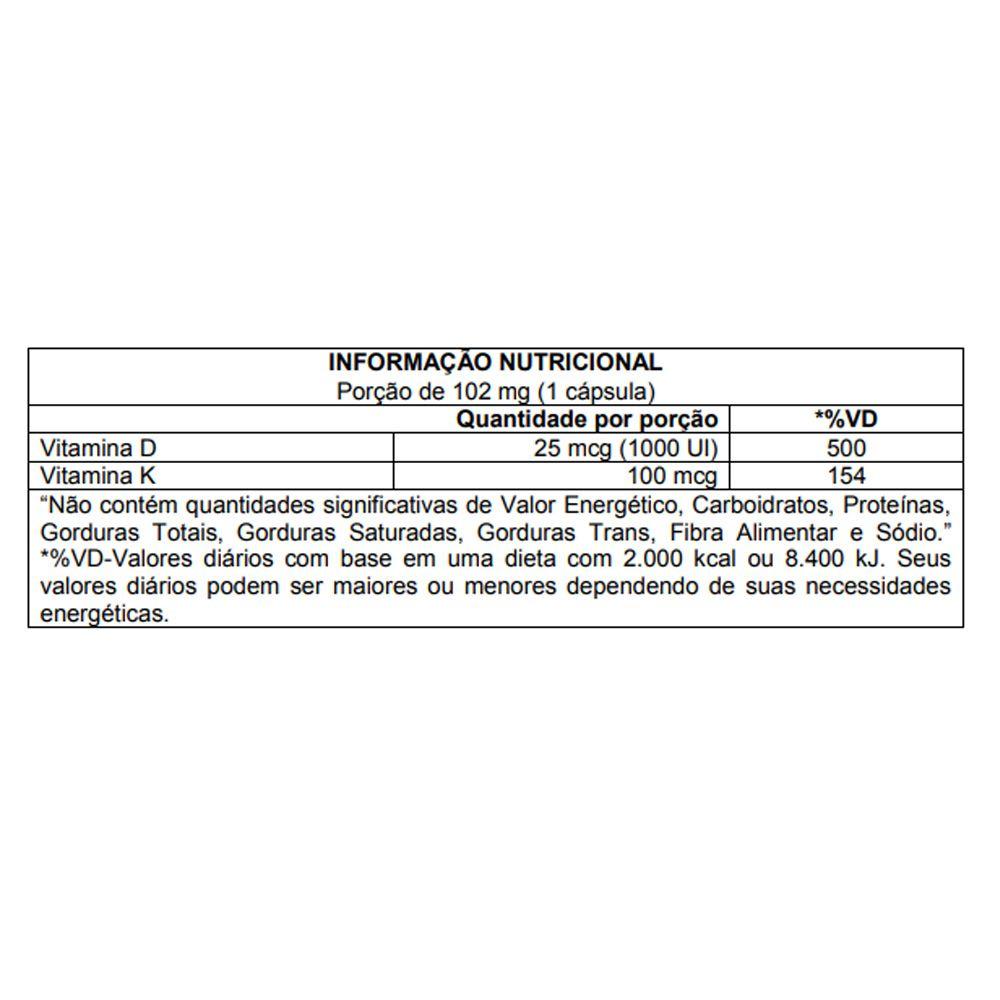 Vitamina D3 1000 UI + K2 - DSUN+K2 60 Caps Atlhetica Nutrition  - KFit Nutrition