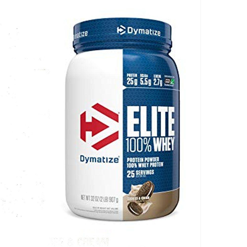 Elite 100% Whey 2 LBS Cookies e Cream Dymatize  - KFit Nutrition